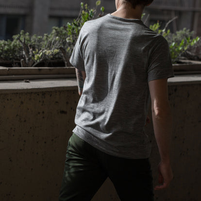 The Antoni Tee in Heather Grey