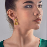 Small Double Intaglio Earrings, Jaded Jewels