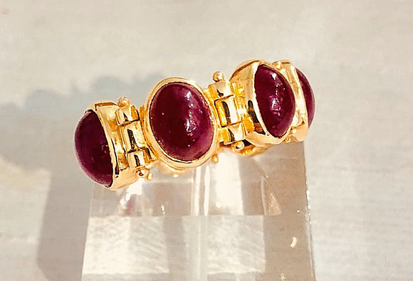 18kt gold ring and ruby  diego percossi