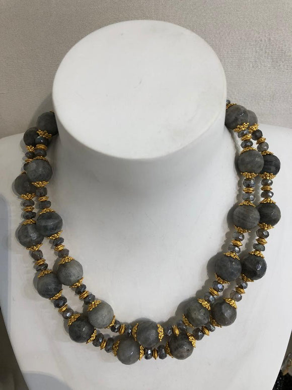 Two Strand Labradorite Necklace, Jaded Jewels