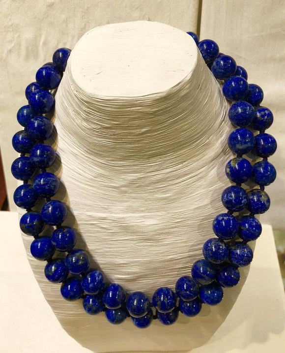 Two Strand Lapis Necklace, Jaded Jewels
