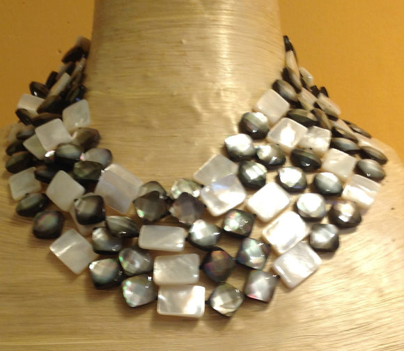 Five Strand Mother of Pearl Necklace