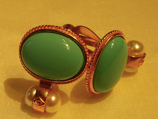 Turquoise and Pearl Earrings, Jaded Jewels