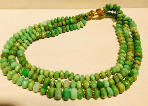 Chrysoprase Necklace by Jaded Jewels