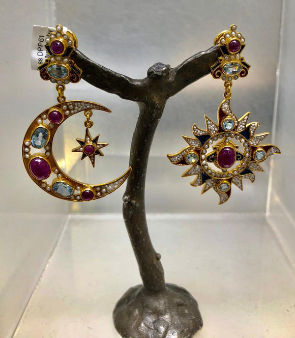 Star and Moon Earrings, Percossi Papi Private Collection