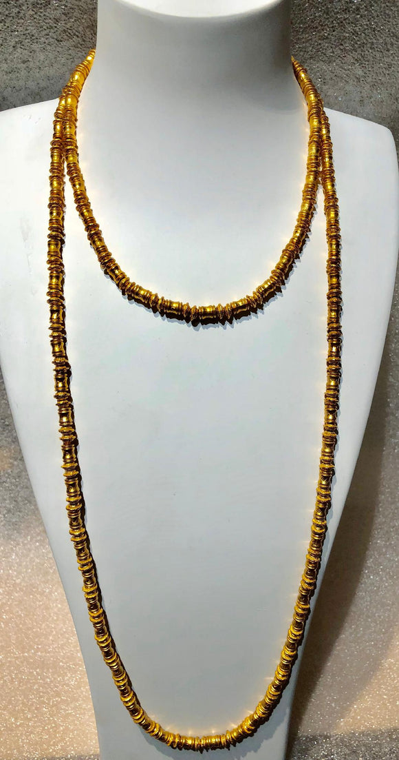 Long or Short , or Double  21 Kt Gold Plated Necklace, Jaded Jewels