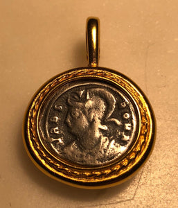 Roman Coin Pendant by Jaded Jewels.