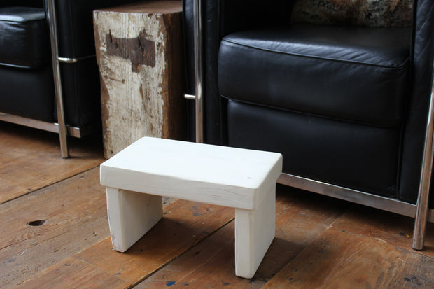 Limestone White Kids' Step Stool - Distressed