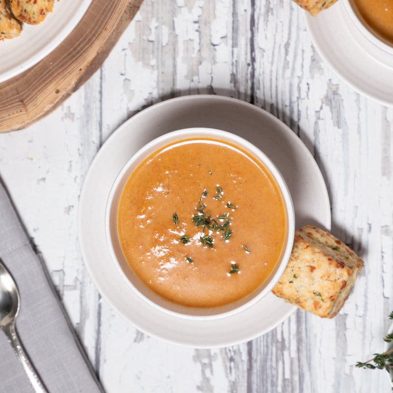 Buttercup Squash + Pear Soup