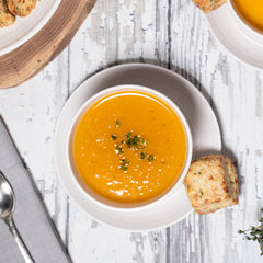 Butternut Squash, Apple + Ginger Soup