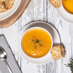 Red House Butternut Squash, Apple, and Ginger Soup