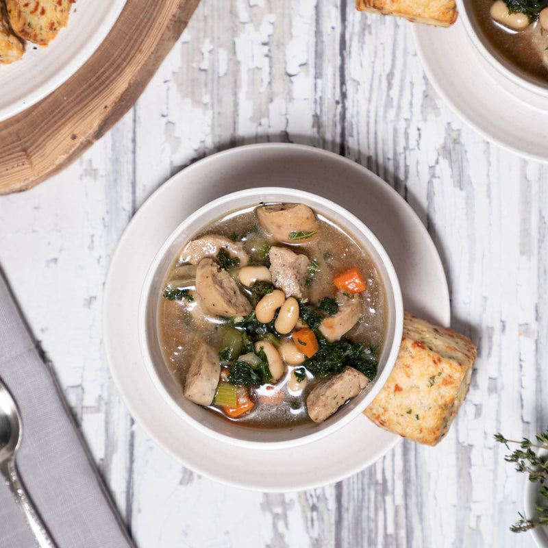 Red House Turkey, Kale + White Bean Soup