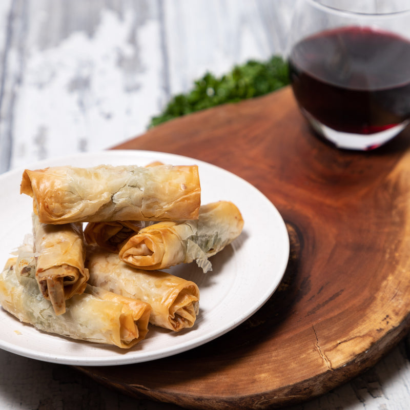 Asparagus Phyllo Cigars with Bacon and Parmesan