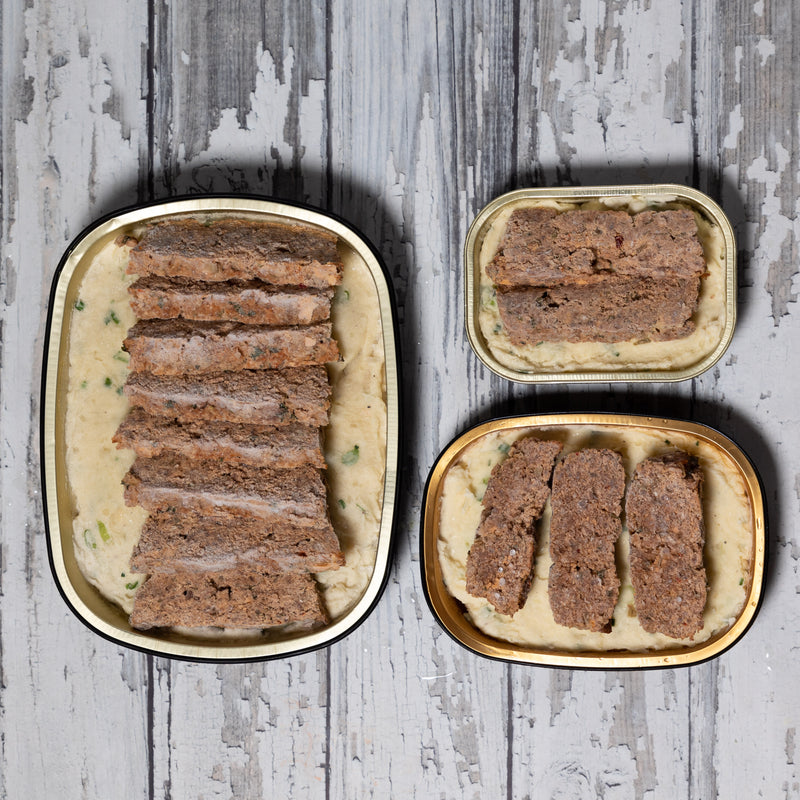 Best-ever Meatloaf / on Smashed Garlic Russets