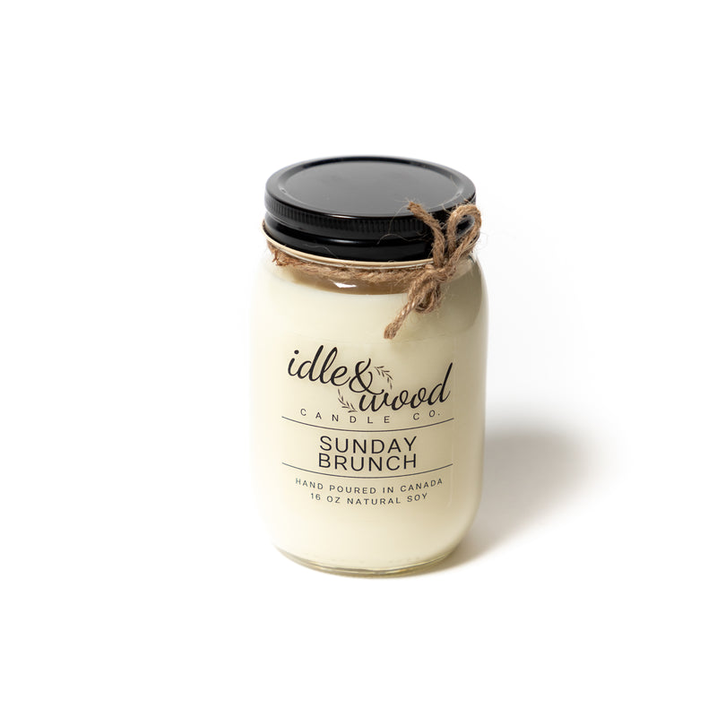 Idle & Wood Candle Co. Sunday Brunch Candle