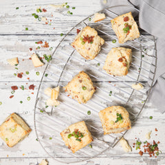 Bacon, Smoked Cheddar + Green Onion Scones