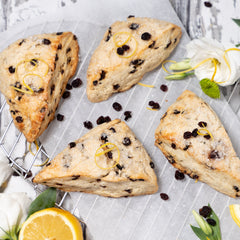 Lemon Currant Buttermilk Scones