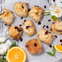 Cranberry Orange Buttermilk Scones