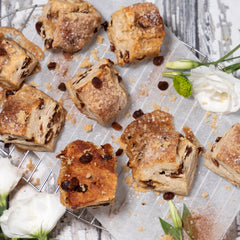 Cinnamon Raisin Swirl Scones