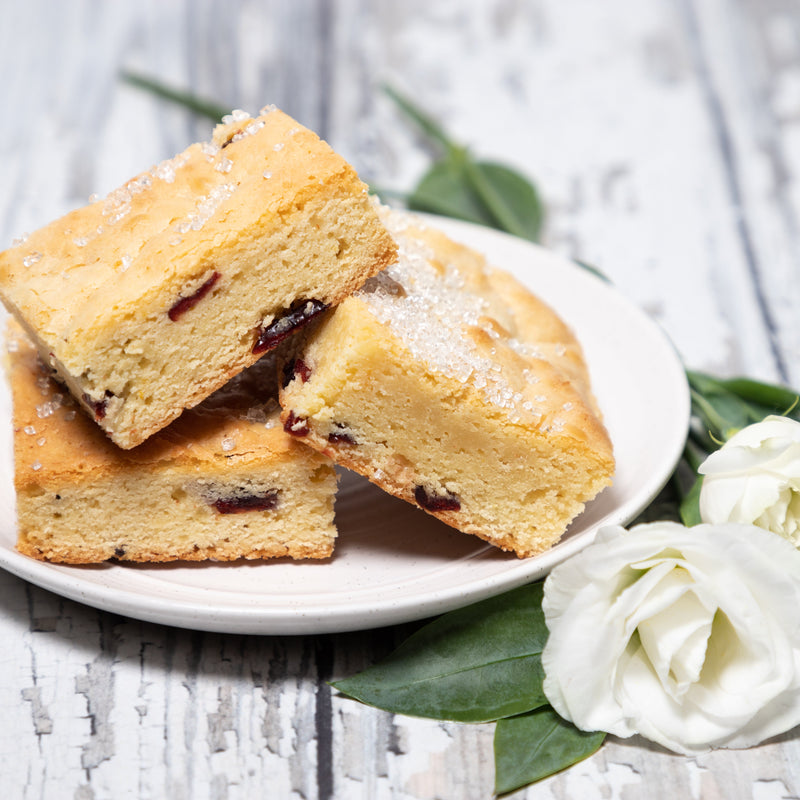 White Chocolate Cranberry Orange Blondies