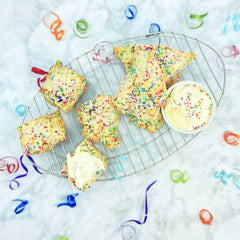 Funfetti Scones with Vanilla Icing