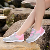 2017 Designer Summer Women Casual Shoes Female Breathable Mesh Zapatillas Shoes for Women's Soft Canvas Shoes Wild Flats - Online Shopping stockyoo