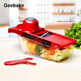 Geebake Plastic Vegetable Fruit Slicers & Cutter With Adjustable Stainless Steel Blades Carrot Potato Onion Grater