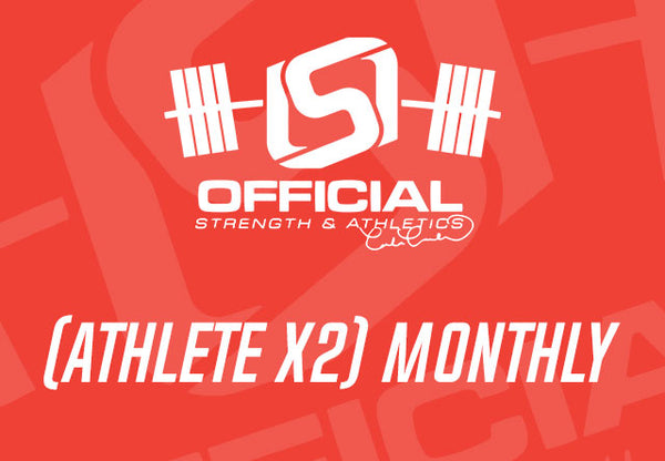 (ATHLETE x2) Monthly - Official Strength Athlete Session