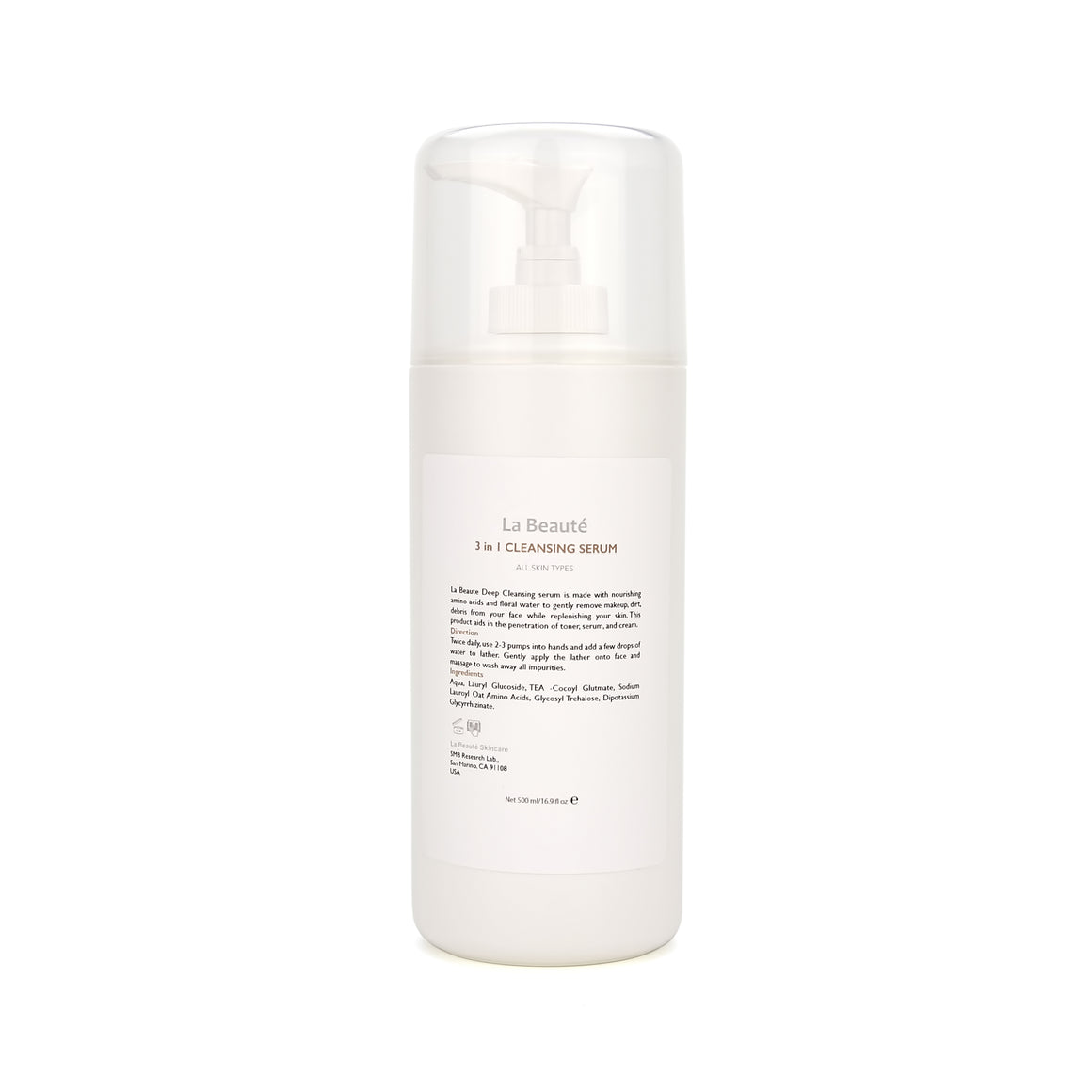 La Beaute - 3 in 1 Cleansing Serum 500ml WS