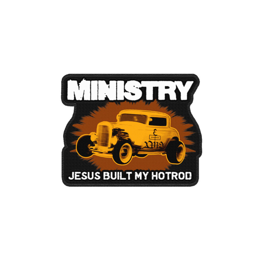 Jesus Built My Hot Rod Die Cut Patch – Ministry Store