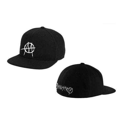 Embroidered Black Fitted Cap