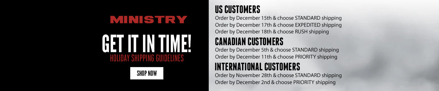 Shipping Deadlines for Ministry Store