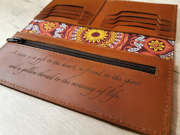 Lined ladies' wallet