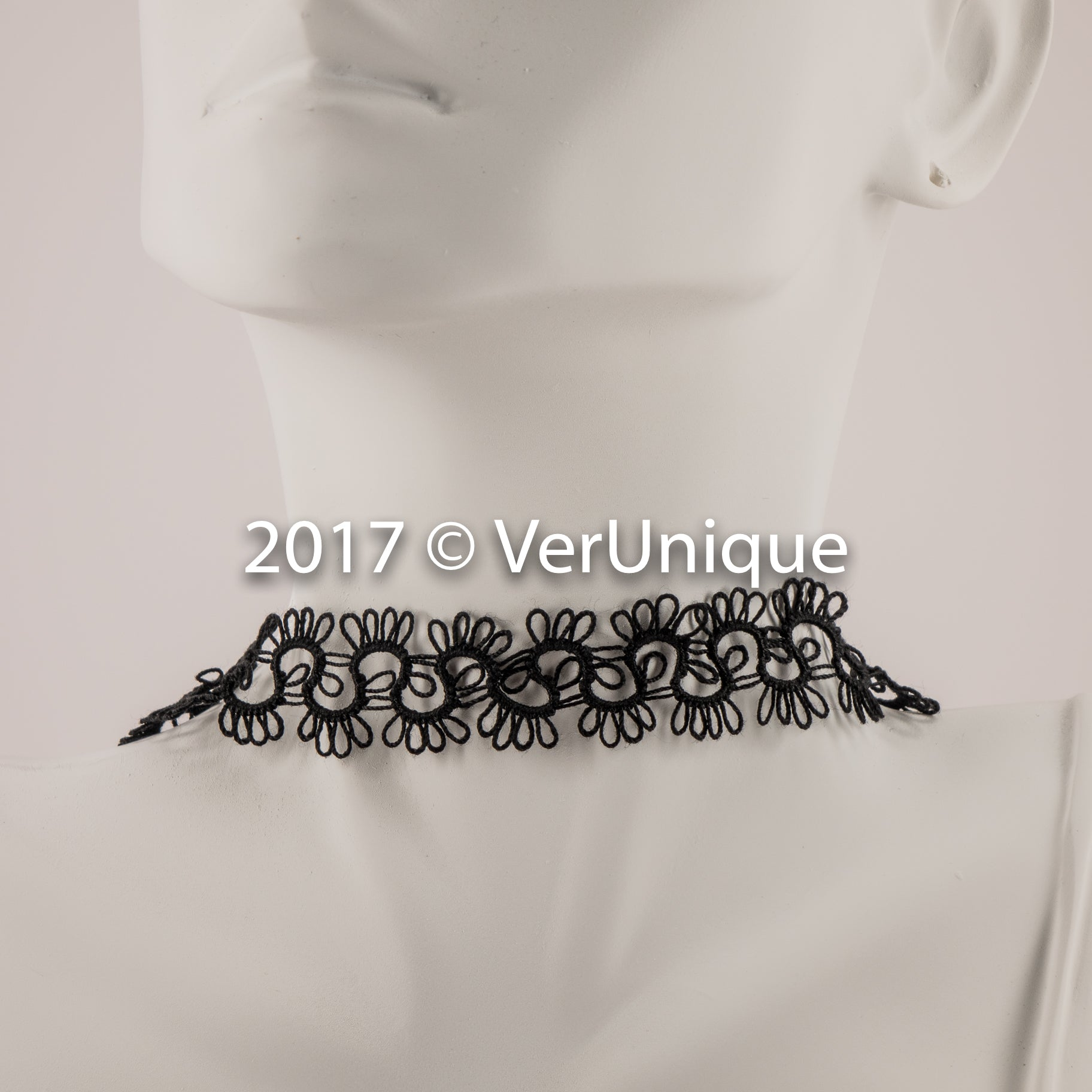Tatted Choker - Black
