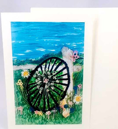 heArtful Card - Tatted Wagon Wheel