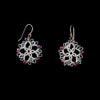 Tatted Star Earrings - Pink Beads