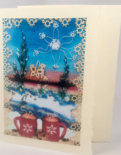 heArtful Card - Winter Window Scene
