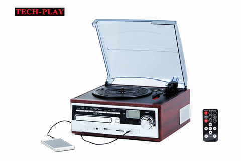 3 Speed Turntable W/ CD player, MP3, AM/FM Radio ODC26WD