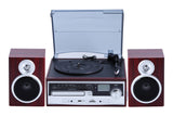 3-Speed Turntable with CD Cassette SD Card USB player ODC28SPK-WD