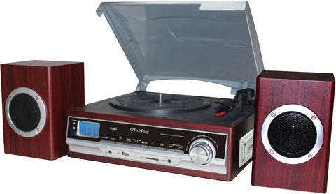 3 speed turntable with MP3 and Cassette player AM/FM ODC174