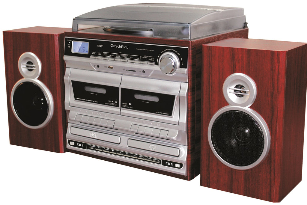 plete Home Stereo system with 3 Speed Retro Classic Turntable