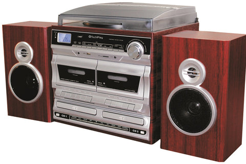 Complete Home Stereo system with 3 Speed Retro Classic Turntable ODCR2110