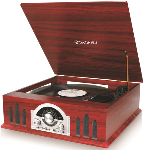 3 Speed Record Player Turntable with AM/FM Radio & MP3 TCP2916WD
