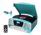 all in one stereo 3 Speed turntable programmable MP3 CD player ODC35 Turquise