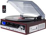 3-Speed Turntable & Cassett player with SD and USB slots DC17 WD