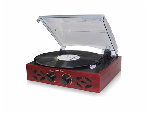 Retro Classic 3 Speed Wooden Turntable with FM Radio ODC15