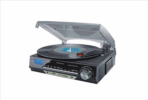 Retro Classic 3-Speed Turntable W/SD USB, MP3 ODC18-BS