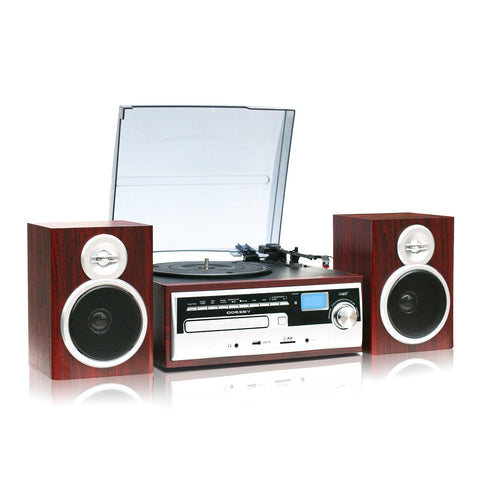 High Power 50W Bluetooth 3 Speed classic Retro Turntable ODC38WD SP