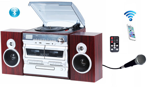 Complete shelf set High power3-Speed Turntable with Karaoke ODCK110
