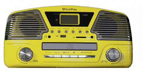 3 Speed turntable Sharp Looking programmable MP3 CD player ODC35 Yellow